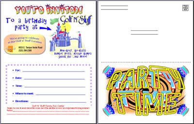 Golf N Stuff Birthday Party Invitations – Invitations to a Party